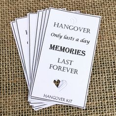 Hangover kit tags/ goodie bag / hen party by CreativePaperMakes