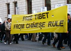 A Free Tibet protest in London.