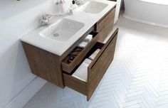 """Element Vanity 60"""" W2 by WETSTYLE inches 60 x 20 x 20.5 mm 1524 x 508 x 521"""