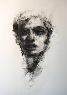 "Saatchi Art Artist Agnes Grochulska; Drawing, ""Portrait #1"" #art"