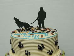 The recipient of this cake has a dog named Shadow. Shadow is part wolf and likes to howl.