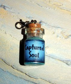 Captured Soul Mini Bottle by SplatterPalette on Etsy