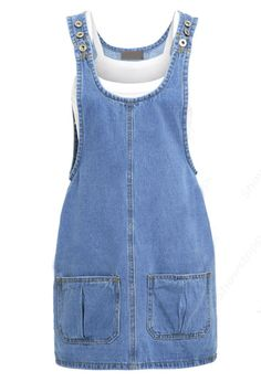 style denim jumper dress with adjustable shoulder straps. Jumper Dresses: 15 Outfit Ideas and Options to Shop Now Denim Jumper Dress, Sleeveless Denim Dress, Denim Outfit, Denim Shirt, Shirt Dress, Denim Pinafore, Pinafore Dress, Umgestaltete Shirts, Denim Fashion