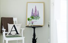Art Print/illustration Lupine by Formstigen 2A