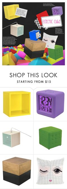 """""""Untitled #1396"""" by blackfury ❤ liked on Polyvore featuring interior, interiors, interior design, home, home decor, interior decorating, Dolle Shelving, La Crosse Technology, Office Star and Miss Etoile"""