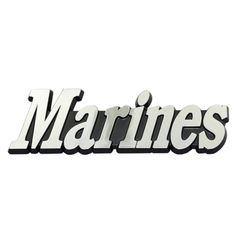 """Marines"" Chrome Plated Auto Emblem"