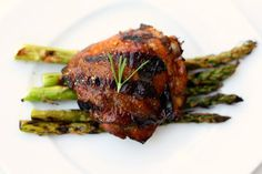 Lemon, Rosemary and Balsamic Grilled Chicken Thighs Recipe on Yummly
