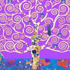 ALBERO LILLA Schizzi per il fregio con l'Albero della vita Bruxelles 1905-9  Klimt Gustav - STAMPA SU TELA € 13,34