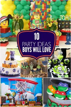 Party Ideas Boys Love