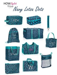 Navy Lotsa Dots -- Spring 2015 Thirty-One.  Created by HOWStylish, independent consultant.