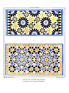 #Alhambra #Granada Islamic Art Pattern, Pattern Art, Geometry Pattern, Geometric Art, Arts And Crafts, Ceramics, Ornaments, Patterns, Architecture