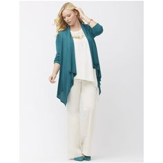 Lane Bryant Plus Size Drape front cardigan, Women's, Size: 26/28, Blue... ($55) ❤ liked on Polyvore featuring tops, cardigans, blue coral heather, plus size, plus size tops, white long sleeve top, plus size long sleeve tops, blue cardigan and plus size womens cardigans