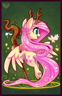 Second in my Pony D&D series! Influenced a lot by Warcraft c: Poster Prints available on my Etsy! Also available in holographic~ DnD Pony Series: Druid Fluttershy Dessin My Little Pony, My Little Pony Comic, My Little Pony Drawing, My Little Pony Pictures, Mlp My Little Pony, My Little Pony Friendship, Fluttershy, Raimbow Dash, Desenhos Gravity Falls