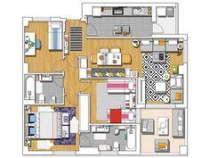 Casa moderna: Plano