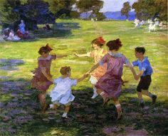 Ring Around the Rosie, 1910-1915, Edward Henry Potthast. American Impressionist Painter (1857 - 1927)