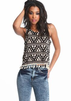 Tribal Tassel Top   $33 shopmodmint.com