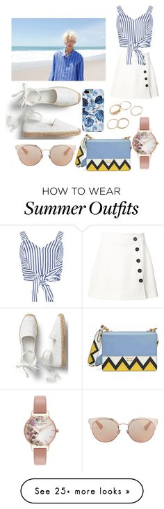 """""""Jeonghan Inspired Outfit"""" by summer-barba on Polyvore featuring Misha Nonoo, WithChic, Prada, Christian Dior and Olivia Burton"""
