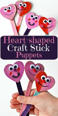 Heart-shaped craft stick puppets are super easy, no mess and bring a smile to every kid who loves puppets! Check out these simple puppets that are perfect for Valentines' Day or ANY day where you want to use hearts to bring a story or playtime ALIVE! Moms and teachers love this craft because it's NOT MESSY! I'll share the secret to a super-fun, non messy craft with you! ad
