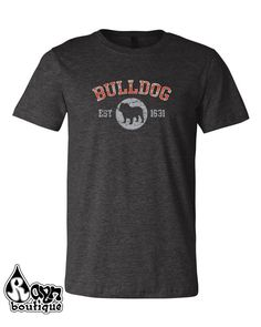 Get this at RaynBoutiqueApparel on Etsy: Unisex Old School Vintage Look English Bulldog British Bulldog. puppy dog pet lovers t-shirt tshirt is Bella-Canvas (18.00 USD) Coupon Code PIN15