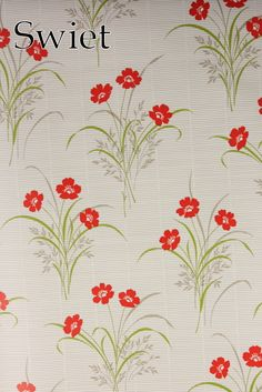 Eighties bloemen behang | Swiet