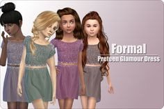 Sims 4 CC's - The Best: Formal Dress for Girls by xMisakix