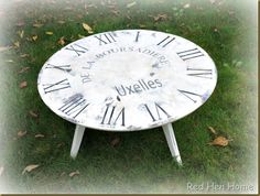 Clock Table!  Very clever.