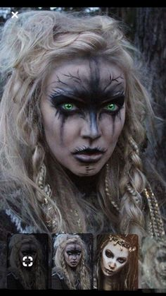 Looking for for inspiration for your Halloween make-up? Browse around this website for cute Halloween makeup looks. Halloween Makeup Witch, Witch Makeup, Halloween Makeup Looks, Halloween Looks, Fx Makeup, Cosplay Makeup, Costume Makeup, Creepy Halloween, Halloween 2018