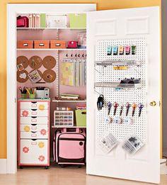 Scrap booking / Craft closet idea