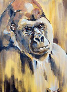 Almost Human - Gorilla Monkey  Art Print