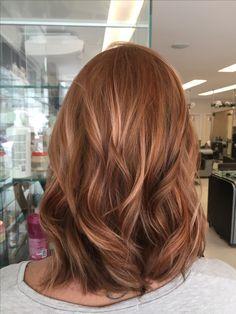 Rosé gold / long bob – # Rosé - All For Hair Color Balayage Hair Color Auburn, Red Hair Color, Cool Hair Color, Color Red, Hair Colors, Medium Auburn Hair, Brown Auburn Hair, Brown Hair, Red Balayage Hair