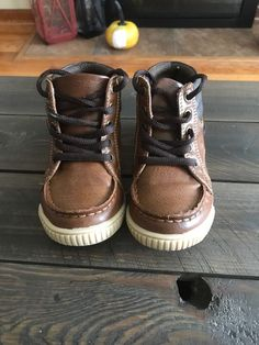 8415fad77f2b0 Childrens Place Toddler Boys Size 9 Brown Boots  fashion  clothing  shoes   accessories