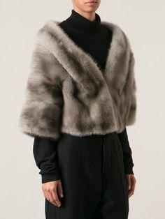 cropped mink fur coat