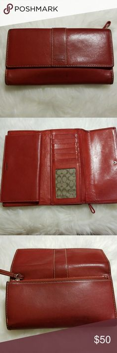 Coach wallet with checkbook holder Coach wallet with checkbook holder Coach Bags Wallets
