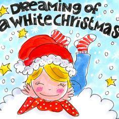 Meisje droomt van een witte Kerstmis- Greetz