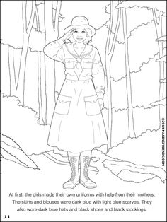 juliette low coloring book cover | girl scouts | pinterest ... - Girl Scout Camping Coloring Pages