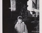 Girl in Shadows, Vintage Black & White Photo, Suburbia
