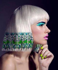 Creative hair #hairstyles