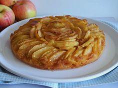 Bolo (ou tarte fingida) de maçã caramelizada - Sobremesas de Portugal