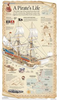 A Pirate's Life Visual Infographic Ice climbing waters trip ships kayaking Pirate Art, Pirate Life, Pirate Ships, Pirate Crafts, Pirate History, Old Sailing Ships, Black Sails, Pirates Of The Caribbean, Sea Pirates