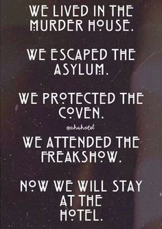 Image shared by Find images and videos about american horror story, ahs and evan peters on We Heart It - the app to get lost in what you love. Evan Peters, Roanoke Nightmare, American Horror Story Quotes, American Horror Story Asylum, Tate And Violet, Ahs Hotel, Movies And Series, Horror Show, Fandoms