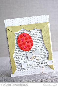 Happy Birthday Background, Myriad Dot Background, Terrific Ties, You're the Sweetest, Balloon STAX Die-namics, Take the Stage Die-namics, Terrific Ties Die-namics - Keisha Campbell #mftstamps