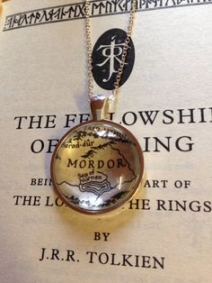 Lord of the Rings Mordor Map Necklace by EnchantingGlass on Etsy
