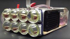 Monstrous lamp: Is so powerful that it integrates a liquid cooling syste... Monstrous lamp: Is so powerful that it integrates a liquid cooling system, eight LEDs of 100 watts each.  #flashlight #JessieJ #ChoiceMovieTVSong #Abantech #MTVHitsLA #TeenChoice #PitchPerfect2 #LED #Smule #ledflashlight