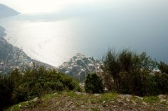 Positano from the mountains