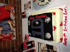 Ben's One Direction cake