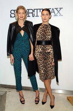 Gigi Hadid with Bella Hadid at the Sportmax and Teen Vogue Celebrate The Fall/Winter 2014 Collection event. See all of the model's best looks.