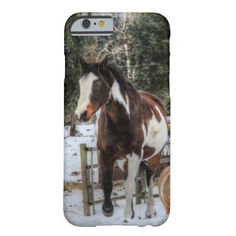 Pinto Horse in the Snow Barely There iPhone 6 Case