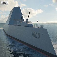 Buy USS Zumwalt by on The model was created on real base. Uss Zumwalt, Us Navy Ships, Uv Mapping, United States Navy, Submarines, Model Ships, Water Crafts, Battleship, Corvette