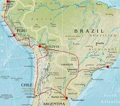 Gringo Trail! Our route (minus Argentina and Brazil).