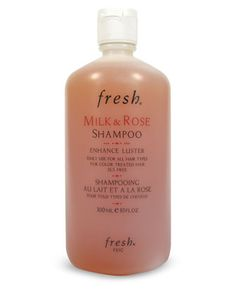 Milk & Rose Shampoo by Fresh at Neiman Marcus. This was my favorite shampoo from the time I discovered it till it became no longer available. It made my hair so shiny and the scent of it was incredible. It would leave my hair smelling like fresh roses hours after I washed with it.